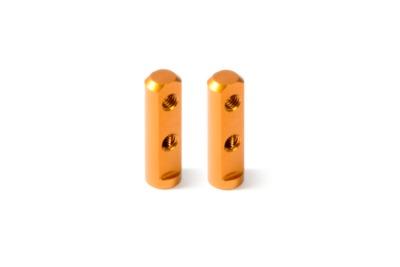 XRay X12 Alu Servo Mount - Orange (2)
