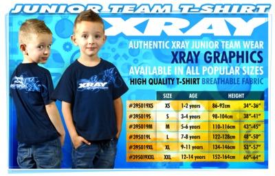 XRay Junior Team T-Shirt (9/11 - 134-146Cm)