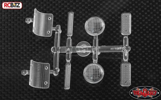 RC4WD Chevrolet K5 Blazer Clear Lenses Lights Parts Tree Front Rear Side RC4WD