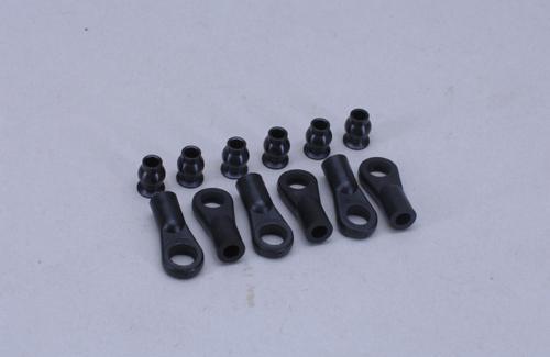 Ball/socket joint 6mm w/ball (Pk6)
