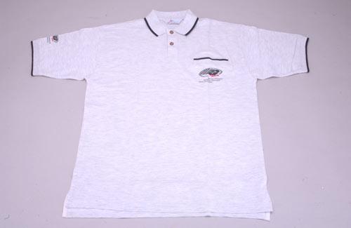 FG Team Polo Shirt M Light-Grey