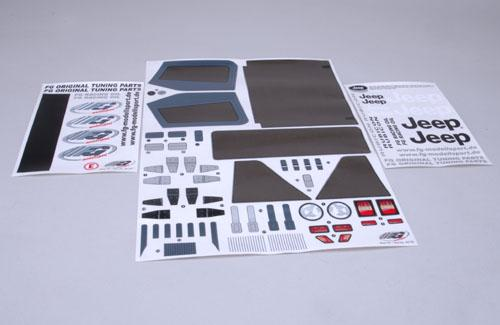 Model Decal Set For Jeep