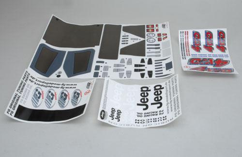 Stickers for Jeep 4WD, set