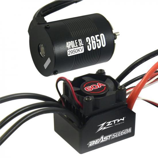 ZTW 1:10 Beast Sll 60A Combo + 4P Sl 3650B 2950Kv Motor