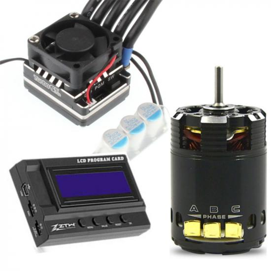 ZTW 1:10 Beast PRO Combo with 120A ESC + BP 3652 13.5T 3200Kv Motor + LCD Program Card