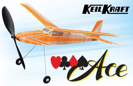 Keil Kraft Ace Kit - 30 Inch Free Flight Rubber Duration