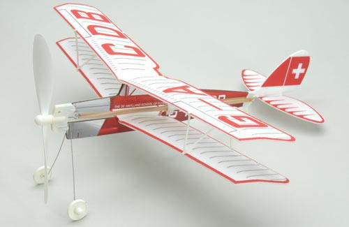 Aviator Tiger Moth Rubber Powered Glider