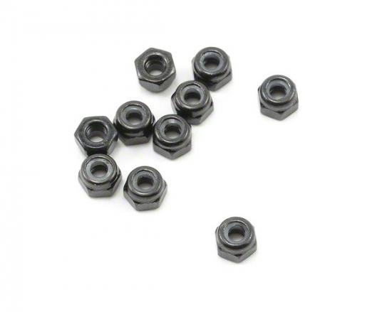 Axial M3 Nylon Locking Hex Nut (Black) (10pcs)