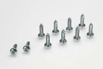 GF-0175-016 - Self-tapping pan head screw - 4 - 2X25 - Galvanized Steel (10pcs) ** CLEARANCE **