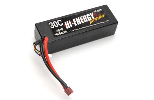 Hi-Energy 3S 4000mAh 30C Car Li-Po