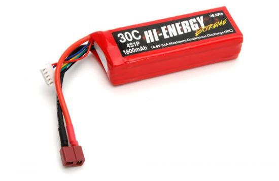Hi-Energy 4S 1800mAh 30C LiPo