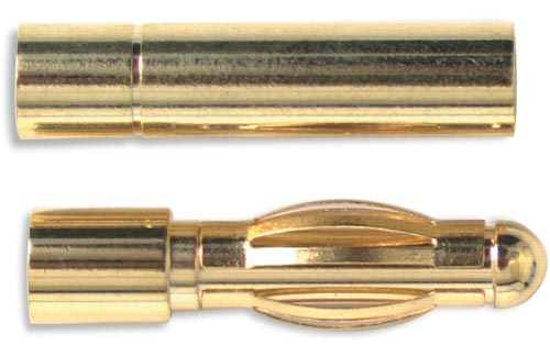 Gold Connector 2mm w/H.S (2Pr) - Bulk Pack Of 10