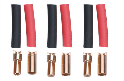 Gold Connector 6.0mm w/H.Shrink-3pr