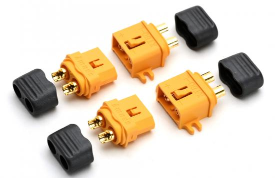 XT60 S.Connector Side Mnt (2 Pairs)