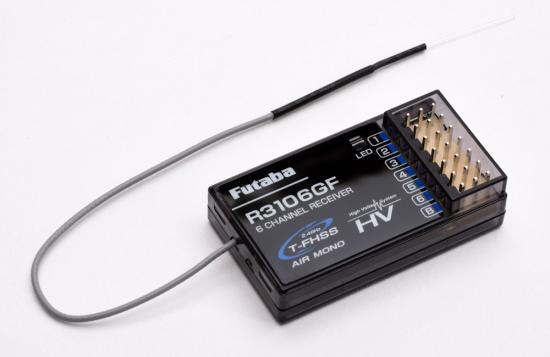 Futaba R3106GF 6-Channel Receiver - T-FHSS Mono HV