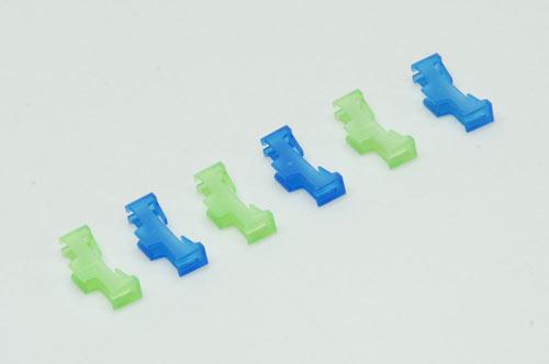 Safety Lead Lock (Pk6)Green/Blue - Bulk Pack Of 10