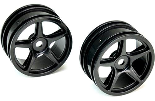 26mm 5 Spoke Wheel Black X 2 ** CLEARANCE **