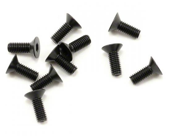 Team Durango Flat Head Hex CS Screw 3x8mm (6)