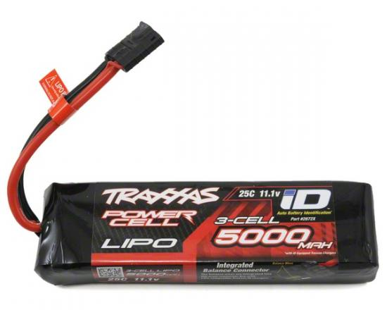 Traxxas ID LiPo Battery - 5000mah 11.1v 3S 25C - 155x26x44mm