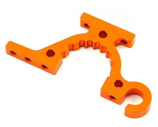 XRay T415 Alu Lower Adjustment Bulkhead - Front R / Rear L - Orange
