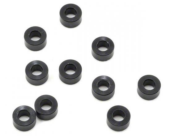 XRay Alu Shim 3X6X3.0mm - Black (10)