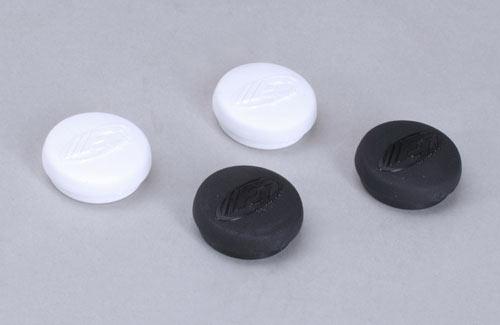 Caps - Headlights Black/White (Pk4)