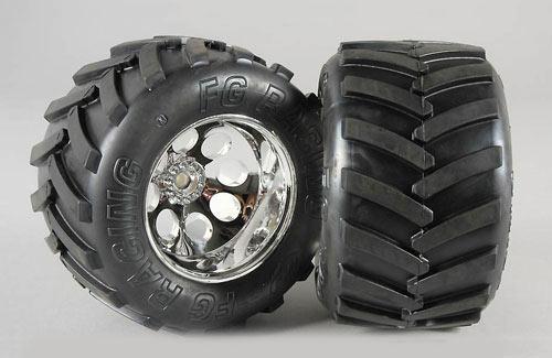 Wheel/Tyre Monster Trk M (GluedPk2)
