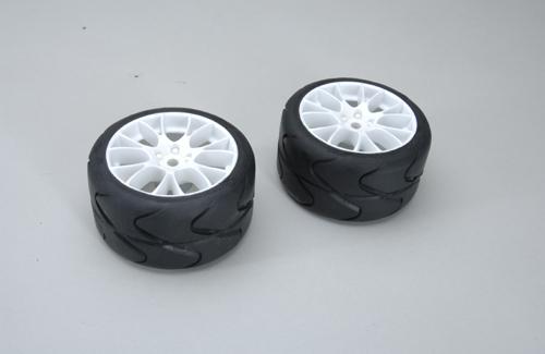 Rear Tyres S3-C/MEDIUM glued (Pk2)