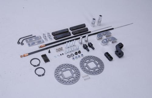 Rear tuning disk brake set