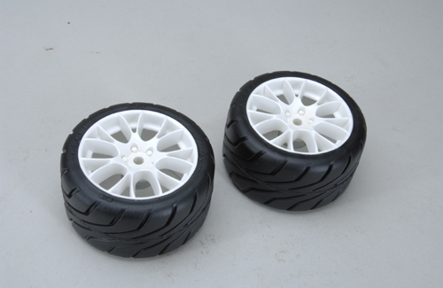Front Tyres R2-B/SOFT glued (Pk2)